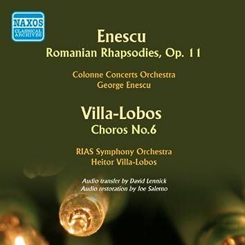 Enescu: 2 Romanian Rhapsodies - Villa-Lobos: Choros No. 6