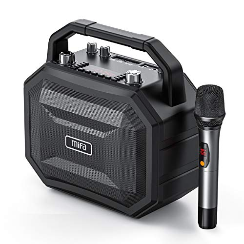MIFA M520 Party Speaker Altavoz Bluetooth 100W Boombox con Función Karaoke, Microfono Incluido, TWS, Bluetooth, Puertos USB, Bateria Integra, Negro