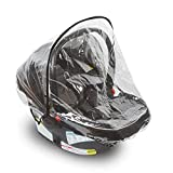Car Seat Rain Cover – Universal Vinyl Weather Shield Fits Doona, Graco, Maxi COSI and Most Infant Carriers–...