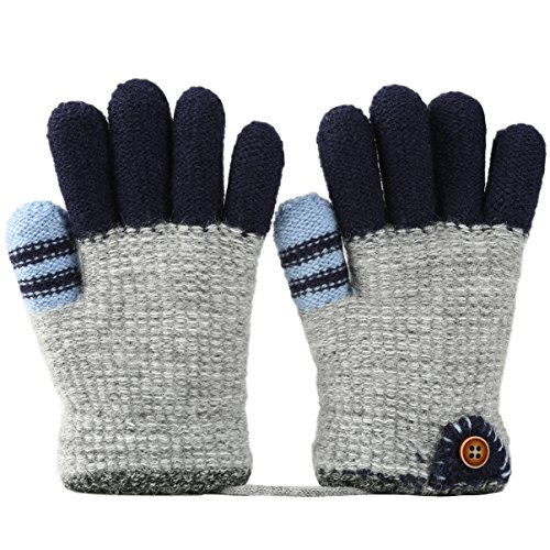 VBIGER Kinder Handschuhe verdickte Gestrickte Handschuhe Weiche Outdoor Winterhandschuhe Warme Handschuhe