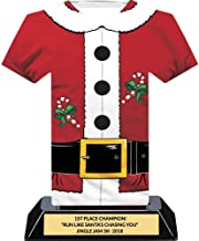 Santa Suit Christmas Trophy, Customize Engraving, 7 Inch Tall, Acrylic