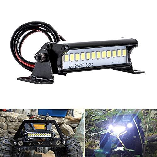 FPVKing RC 12 LED Light Bar Kit Metal Roof Lamp 4.8-7.4V 55mm Axial SCX10 90046 D90 KM2