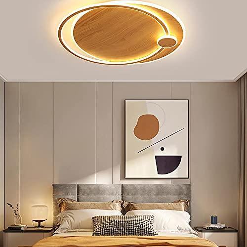 QPMY Plafoniera A LED Plafoniera in Stile Log Dimmer Continuo con Telecomando con Sorgente Luminosa A LED Diametro 43 Cm/53 Cm/64 Cm64,43×37×7cm