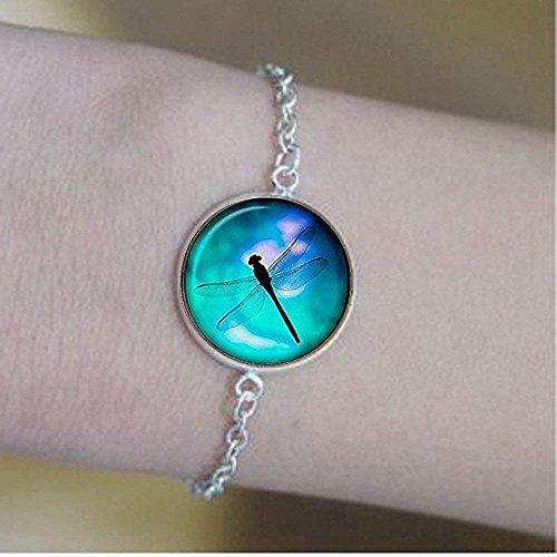 Pulsera de libélula, pulsera de libélula, pulsera de estilo vintage, regalo único personalizado