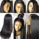 """Small Cap 360 Lace Frontal Wig Human Hair Straight Human Hair Wigs with Baby Hair Straight Virgin Brazilian Human Hair Wig for Black Women Silky Straight 9A 360 Lace Wig Human Hair 150% Density 12"""""""