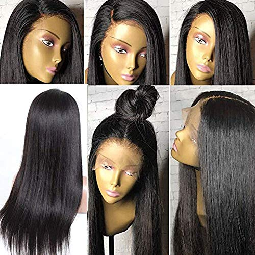 """Human Hair Wig 9A Brazilian Full Lace Wigs Human Hair Wigs with Baby Hair Straight Full Lace Human Hair Wig for Black Women Silky Straight Wig Glueless Human Hair Wigs Pre Plucked 180% Density 10"""""""