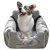 OPNJUG Dog Car Seat Car Kennel, 2 in 1 Pet Car Seat Cover