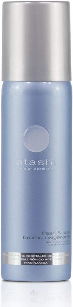 Atashi Fresh & Pure - Bruma Oxigenante Matificante | Refresca, Hidrata y Calma | Absorbe El Exceso De Sebo | Minimiza Los Poros Y El Acné | Niacinamida | Ácido Hialurónico Acetilado. 60ml
