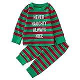 Weihnachten Brief Oberteile Neugeborenes Jungen Mädchen Shirt + Druck Hose Outfits Sets