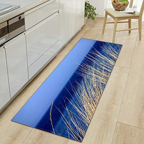 OPLJ 3D Bladeren Keuken Vloermat Water Druppels Anti-Slip Gebied Tapijt Voor Slaapkamer Tapijten Nachtkleed Badkamer Voet Mat Deurmat A22 60x90cm