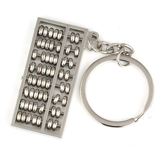 Maycom Creative style chinois Longueur 5 cm Spinning Abacus Porte-clés Anneau porte-clés Porte-clés, Métal, Silber, S
