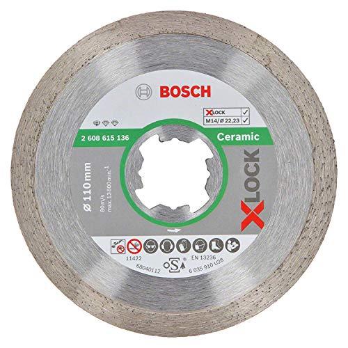 Bosch Professional Diamanttrennscheibe Standard (für Keramik, X-LOCK, Ø110 mm, BohrungsØ: 22,23 mm)