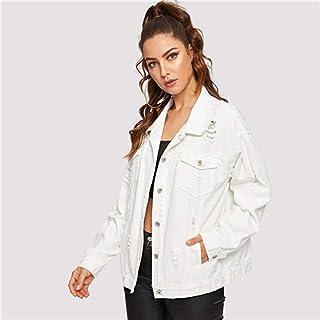 fb5cfc8375 Amazon.it: jeans bianchi - Giacche e cappotti / Donna: Abbigliamento