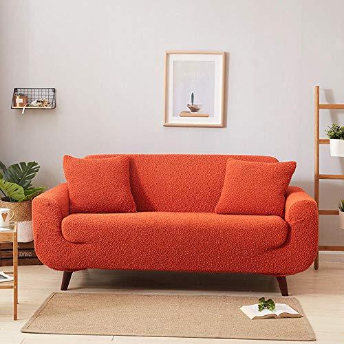 Funda Elástica de Sofá,Funda de sofá de alta elasticidad, funda de sofá de cubierta completa gruesa, funda de sofá de sala de estar, para sofá de sala de estar funda de sofá toalla-Orange_145-185