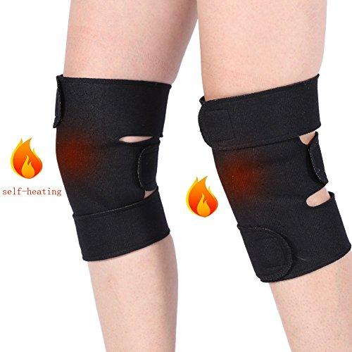 1 Paar Turmalin selbsterhitzende Knieorthese,Acogedor arthrose Kniebandage Magnetic Therapy Knie Sleeve,Kniebandage für Arthritisschmerzen Kniemassager