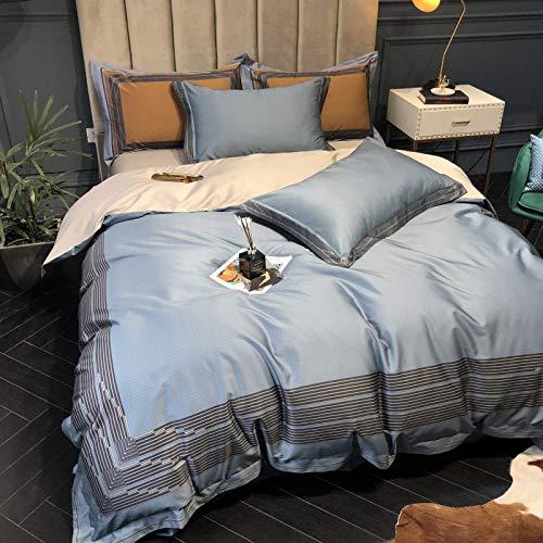 4-delige high-end bedgarnituur met digitale druk Purple Royal Court - LAN-standaard (200 * 230)