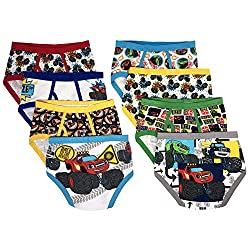 TEN28 by Handcraft Blaze Monster Machines Boys Underwear - 8-Pack Toddler/Little Kid/Big Kid Size Briefs Trucks