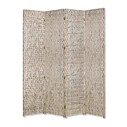Fantastic Prices! HomeRoots Decor Sterling 4 Panel Screen with Silver Metallic Finish