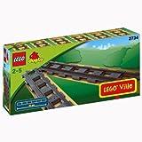 LEGO Duplo Eisenbahn 2734 - 6 gerade Duplo Schienen - LEGO