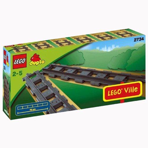 LEGO Duplo Eisenbahn 2734 - 6 gerade Duplo Schienen