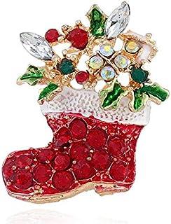 Golden Christmas Socks Brooch - Fashion Popluar Brooches