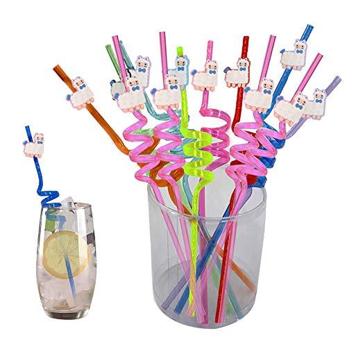 DreamJing - 20 cannucce a spirale con nodo per latte, succo, cocktail, bar, colori assortiti
