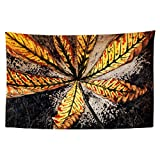 YongColer Cool Psychedelic Hippie 420 Leaves Tapestry Wall Hanging, Trippy Art Decors for Bedroom Dorm Living Room Home Travel Camper, 60x40 inches