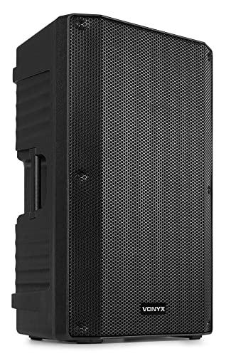 """Vonyx VSA12BT Altavoz Activo de 800 vatios biamplificado con woofer de 12"""", Bluetooth, Ecualizador, Entrada de Guitarra y Reproductor MP3"""