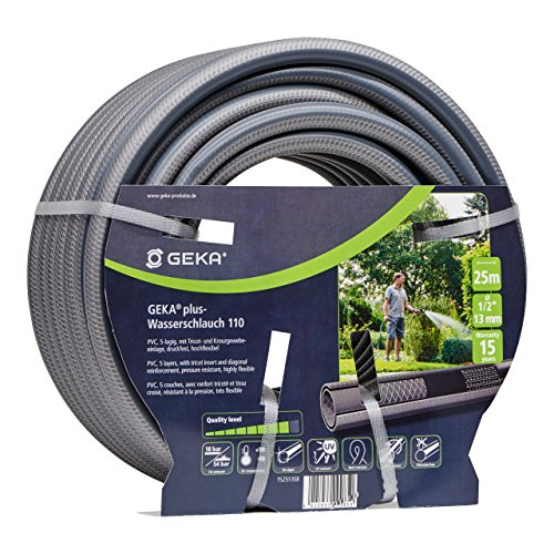 Geka 15.0001.9 Water Hose, Grey/Black, 1/2-Inch