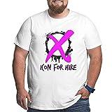 Photo de Icon for Hire T-Shirt pour Hommes Grande Taille XL-6xl t-Shirt à Manches Courtes col Rond Coton Hauts de Sport 3XL
