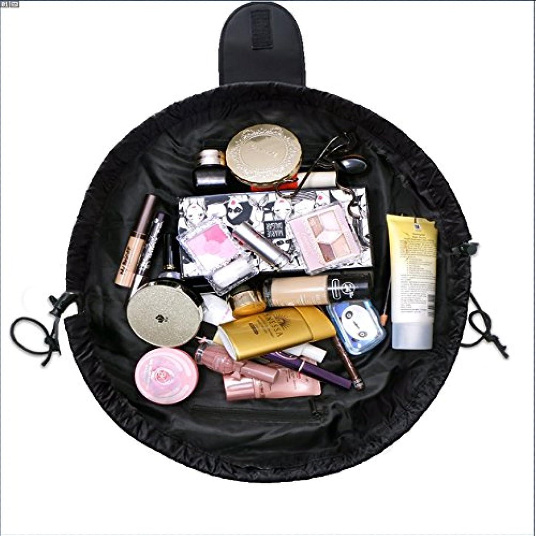 ズボンリッチ空虚旅行化粧バッグ ファッションお手軽カジュアル巾着旅行防水大容量の化粧バック (ブラック)