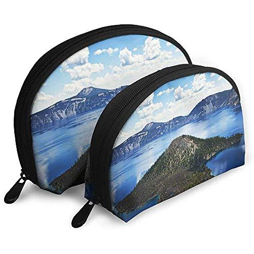 Oregons Crater Lake National Park Tragbare Schminktäschchen Kulturbeutel Tragbare Multifunktionsreisetaschen Kleine Schminktäschchen Clutch Pouch