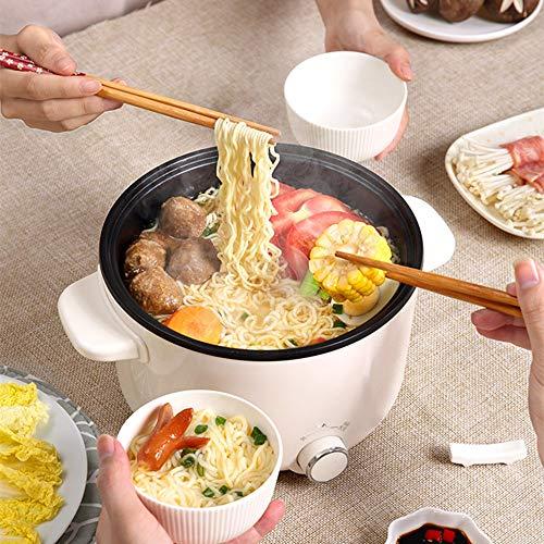 KYC Estudiantes de la residencia Que cocinan una sartén Antiadherente Wok integrada, una pequeña Olla pequeña Multifuncional para el hogar, 2L de Gran Capacidad, Antiadherente y fácil de Limpiar,