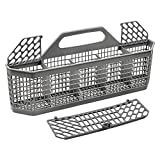 WD28X10128 Dishwasher Silverware Basket By AMI PARTS Replacement (19.7'x3.8'x8.4') for GE Dishwasher, Replace WD28X10127, WD28X10131, WD28X10132
