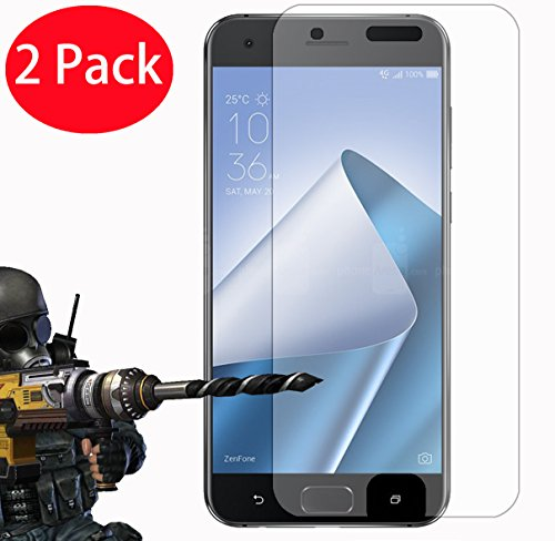 2 Pack - ASUS Zenfone 4 Pro ZS551KL (5.5') Tempered Glass, FoneExpert Tempered Glass Crystal Clear LCD Screen Protector Guard & Polishing Cloth For ASUS Zenfone 4 Pro ZS551KL (5.5')