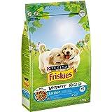 Friskies Vitafit Junior - Croquetas para Perro, con Pollo y suplemento de Leche y Verduras, 1,5 kg