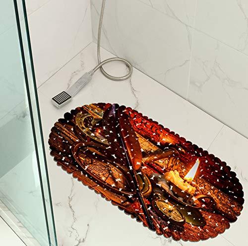GjbCDWGLA verbrande kaars sterke zuignappen bad douchemat anti-slip veiligheidsmat duurzaam Pvc bad bad Mat 35 * 70