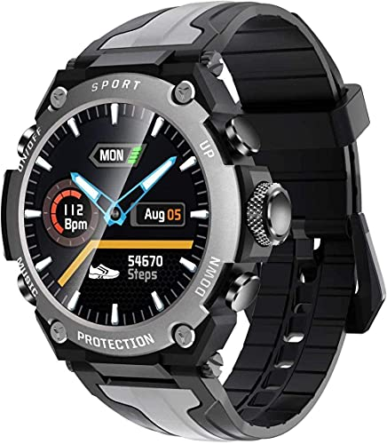 Reloj inteligente de los hombres IP68 impermeable multi-deportes modo fitness música reloj deportivo reloj inteligente para Android Ios-Negro