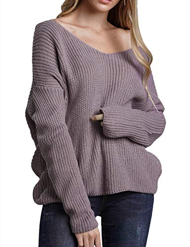"One Size Fits Most.BUST=44.88"" SHOULDER=26.37"" LENGTH=23.62"". Knitted Fabric,Strechy and Comfy. Oversized and Batwing Sleeve.Loose Fit Style Suits for Womens,Ladies,Girls and Juniors Suits for Casual,Work,Party,Club,Home and any Daily Wear. Easy to M..."