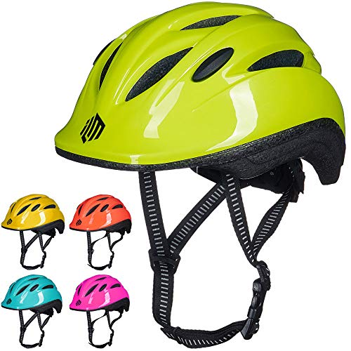 ILM Kids Youth Bike Helmet Toddler Bicycle Cycling Helmet with Adjustable Dial for Boys and Girls (Green, Small/Medium)