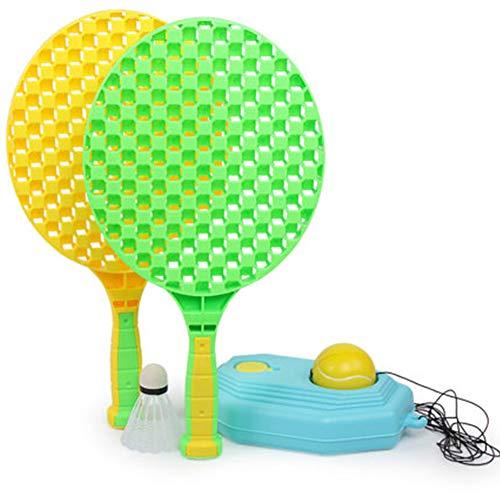 Pelotas de rebote con raquetas de tenis Juego de entrenador de tenis para niños Dispositivo de base de deportes para el hogar Herramienta de entrenamiento de auto tenis para interiores y exteriores