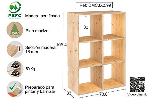 ASTIGARRAGA KIT LINE Estantería modular 3 x 2 cubos DINAMIC ...