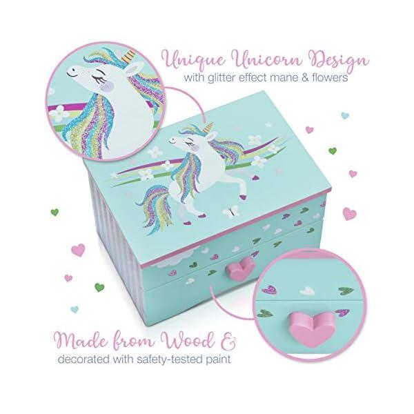 Amitié Lane Unicorn Jewelry Box For Girls - Two Unicorn Gifts For Girls Plus Augmented Reality App (STEM Toy) - Unicorn… 6