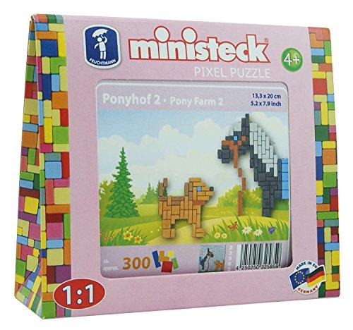 Ministeck 32585 Ponyfarm Pony met hond, ca. 300 delen.