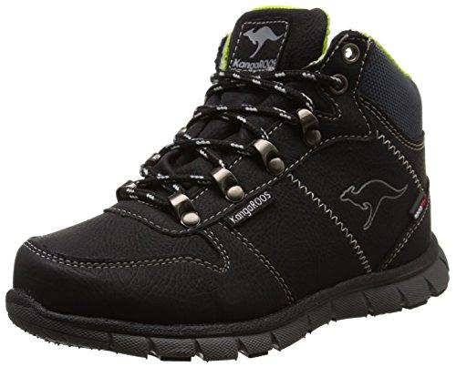 KangaROOS Unisex-Kinder BlueRun 2098 Combat Boots, Schwarz (black/lime 580), 37 EU