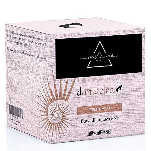 Isabella Monteluna Gesichtscreme mit 80% Schneckenschleim | Feuchtigkeit für alle Hauttypen | Anti-Falten, gegen Narben & Rötungen | 100% BIO Arganöl, Shea Butter, Alge | Made in Italy