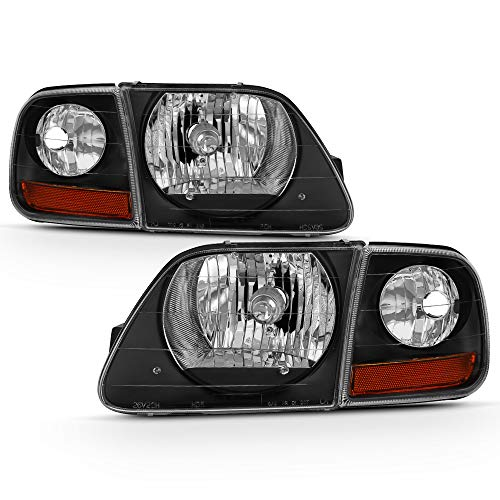 ACANII - For Black 1997-2003 Ford F150 Expedition Lightning Style Headlights...