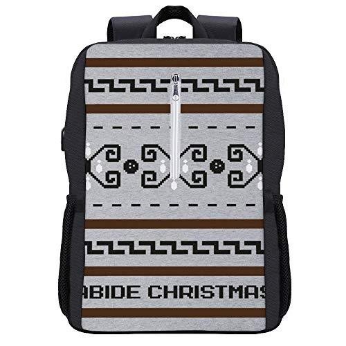The Big Lebowski The Dude Abides Weihnachtsrucksack, Tagesrucksack, Büchertasche, Laptoptasche, Schultasche, mit USB-Ladeanschluss