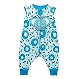 Sacos de Dormir para niños 1.5 Tog con Piernas Cremallera Frontal 5-7 Años