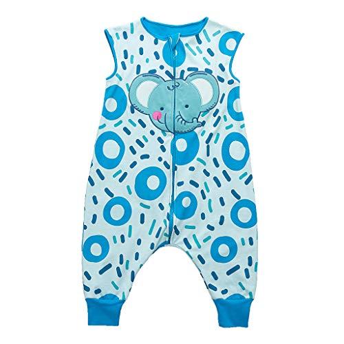 Sacos de Dormir para niños 1.5 Tog con Piernas Cremallera Frontal 1-3 Años
